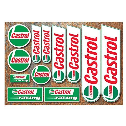 Castrol Sticker Set, 12Motorbike Car Motorsport Race Decals Rally Moto GP TT by onekool
