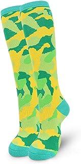 JIAGU, JIAGU Calcetines Deportivos Largos 3pcs del Tubo Largo de esquí Calcetines de los niños Grueso Transpirable 5-10 Años de Edad de Alto Rendimiento Nieve Calcetines (Color : Green, Size : S)