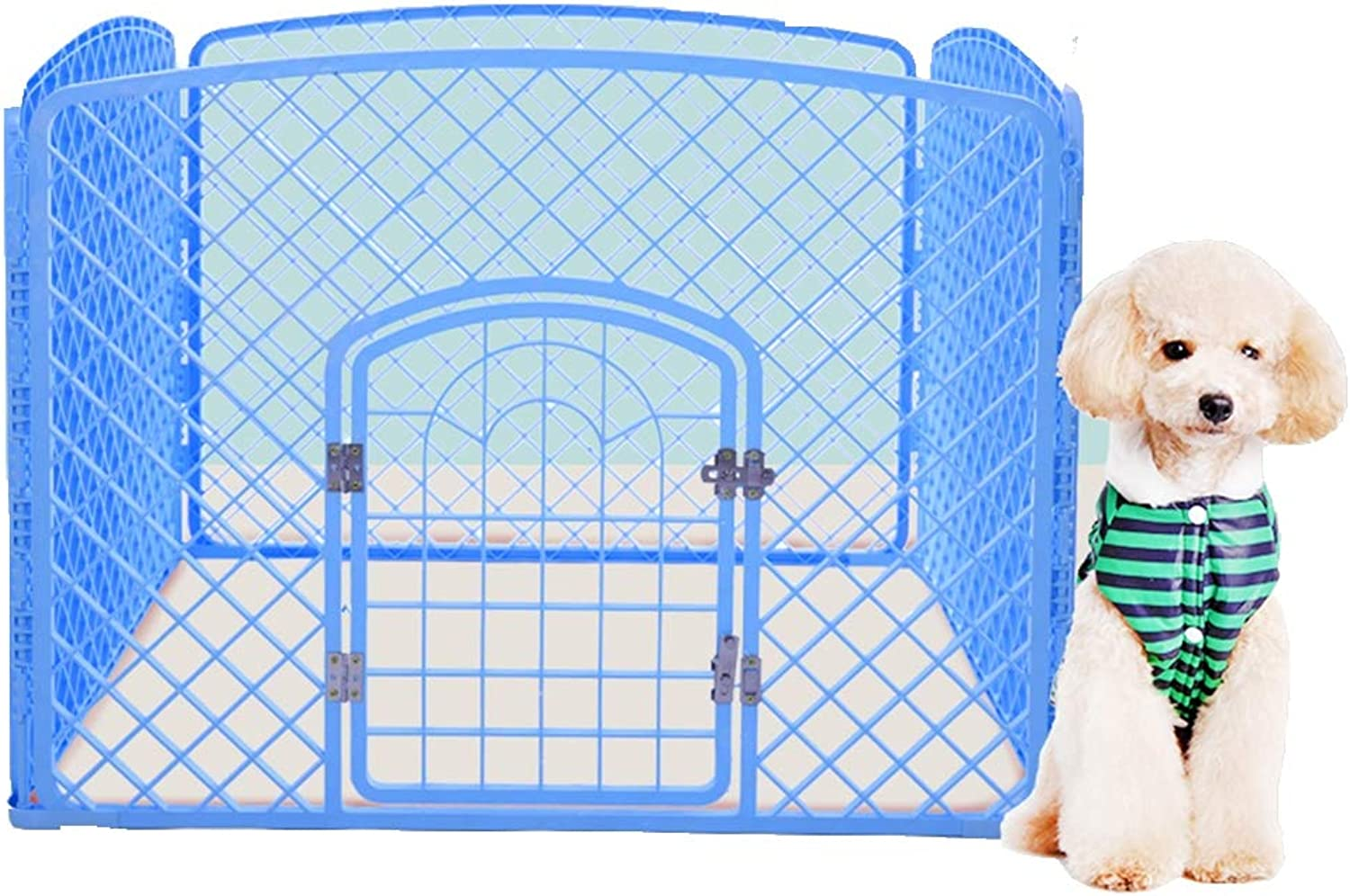 Aida Bz Pet dog pen fence indoor fence dog cage large and medium dog rabbit dog cage cat cage height 76cm,bluee,100cm