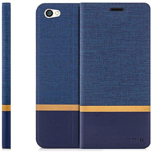 zanasta Tasche kompatibel mit Xiaomi Redmi Note 5A Hülle Flip Hülle Schutzhülle Handytasche mit Kartenfach Blau