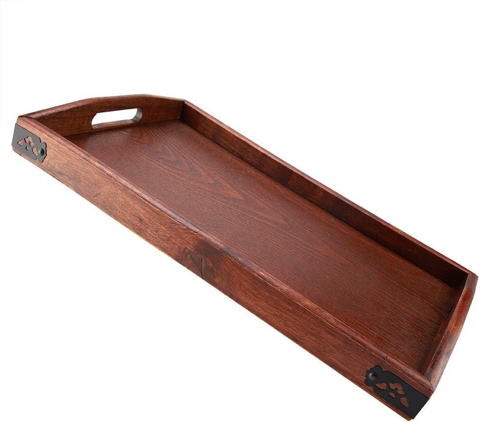 Bandeja de madera para servir con asas Bandejas de comida para comer en la cama M Bandejas de cena para desayunar