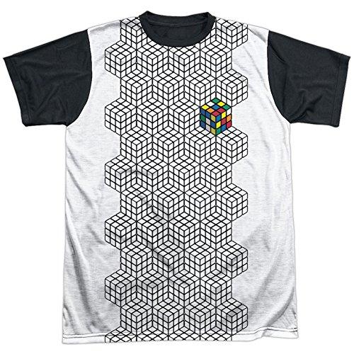 Rubik's Cube - Camiseta de sublimación de color para hombre, color blanco - Blanco - 3X-Large