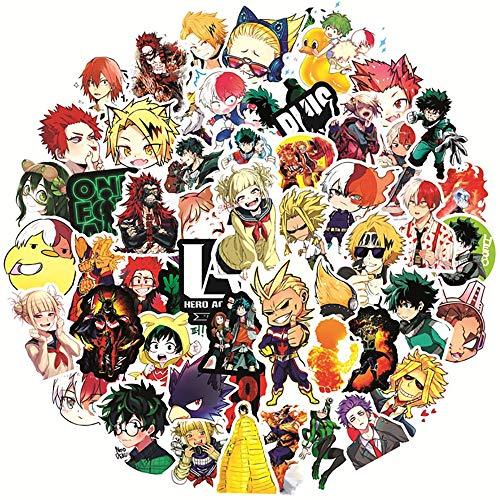 SHUYE Anime mi héroe académico Dibujos Animados Graffiti Pegatina DIY monopatín refrigerador Guitarra portátil Equipaje refrigeración Impermeable Pegatina 50 Uds