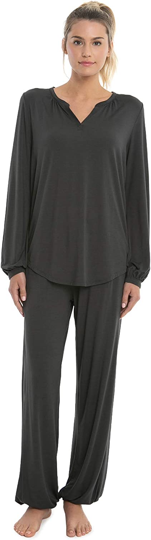 Barefoot Dreams Luxe Milk Jersey Namaste Lounge Set, Pajama, Shirt and Pants