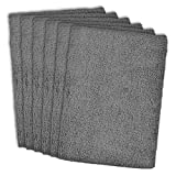 DII Microfiber Multi-Purpose Cleaning Cloths Perfect for Kitchens, Dishes, Car, Dusting, Drying Rags, 12 x 12, Set of 6 - Gray