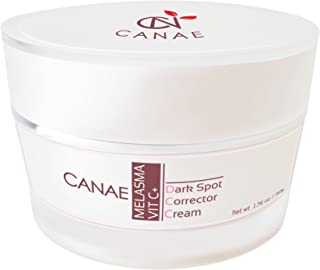 Dark Spot Corrector & Melasma Freckle Remover Treatment Cream, with Active Vitamin C Plus, Fade Face Skin to Lightening by CANAE 1.76 oz