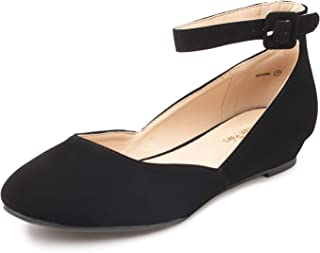 Women's Revona Low Wedge Ankle Strap Flats Shoes