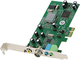 Fesjoy Tarjeta Sintonizadora de TV Interna PCI-E Video MPEG Grabador de Captura DVR PAL BG PAL I NTSC SECAM PC Tarjeta Multimedia PCI-E Remote