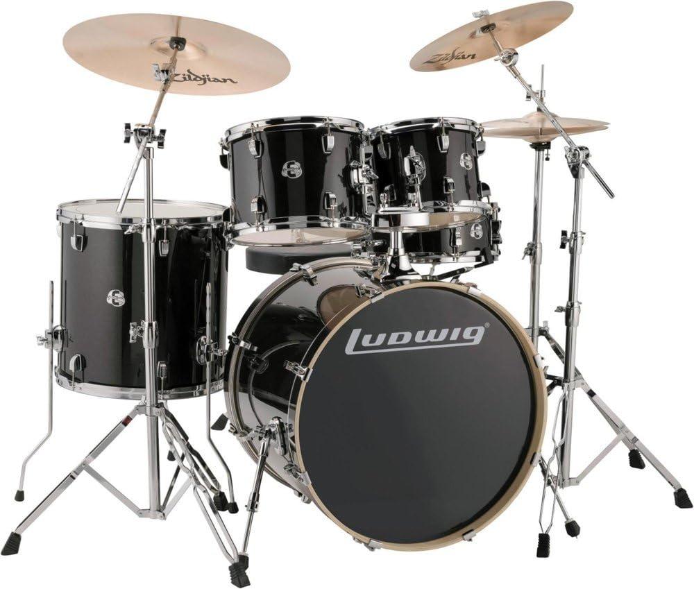 Ludwig Element Evolution Nippon regular agency 5-Piece quality assurance Sparkle Set Black Drum