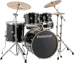 Ludwig Element Evolution 5-Piece Drum Set with Zildjian ZBT Cymbals - 22 Inches - Black Sparkle
