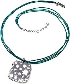 Silver Pendant Agatha Ruiz De La Prada 42cm Wire Cord. [Ab5636]