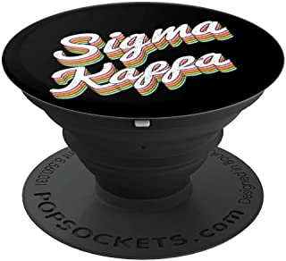 Sigma Kappa Pledge, Rush or Alumnae Sorority 1874 Rainbow PopSockets Grip and Stand for Phones and Tablets