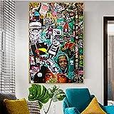 wopiaol Kein Rahmen Plakate und Drucke Graffiti Moderne