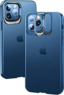 iPhone12/12Pro Mobile Phone Case with Invisible Bracket, Anti-falling and Not Yellowing-Transparent blue