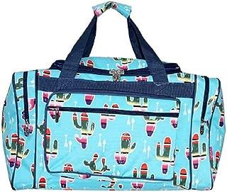 NGil JP Serape Aztec Cactus Arrow Luggage Tote Duffel Carry On Bag Aqua Blue 17