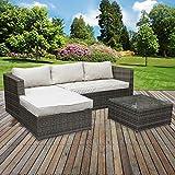marko Outdoor Rattan Garden Corner Sofa Table Chair Furniture Set Grey Patio Outdoor Seating