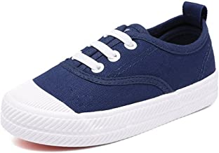 Orlando Johanson New Boys and Girls Sneakers Lace up School Rubber Sole Canvas Shoes(Toddler/Little Kid/Big Kid) Comfortable