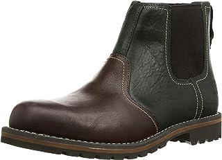 حذاء Timberland Larchmont رجالي مصنوع من الجلد البني الداكن (9706A)