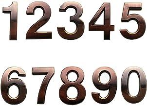 Dasing 10 stuks zelfklevende deurhuisnummers, postvak, nummers, straat, adresnummers voor woon- en postvak, borden, brons.