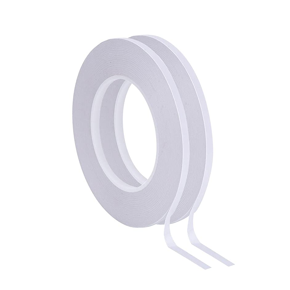 Outus Double Sided Adhesive Tape 55 Yards for Photos, Documents, Wallpaper, Scrapbooking, Crafts, Ribbon, Cards and Boxes, 2 Rolls (1/4 Inch)