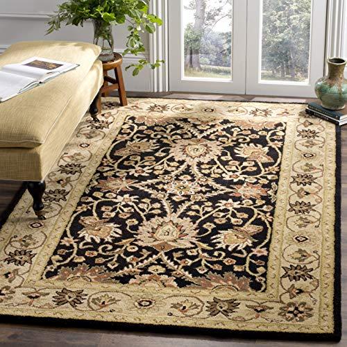 Safavieh Antiquity Collection AT249B Handmade Traditional Oriental Premium Wool Area Rug, 4' x 6', Black