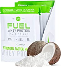 Fuel Whey Protein Powder by SFH | Great Tasting Grass Fed Whey | MCTs & Fiber for Energy | All Natural | Soy Free, Gluten ...