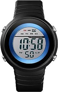 1497 ساعة رقمية إلكترونية للرجال أزياء عادية رياضية في الهواء الطلق ساعة معصم وقت التاريخ الأسبوع المنبه 5ATM إضاءة خلفية ...