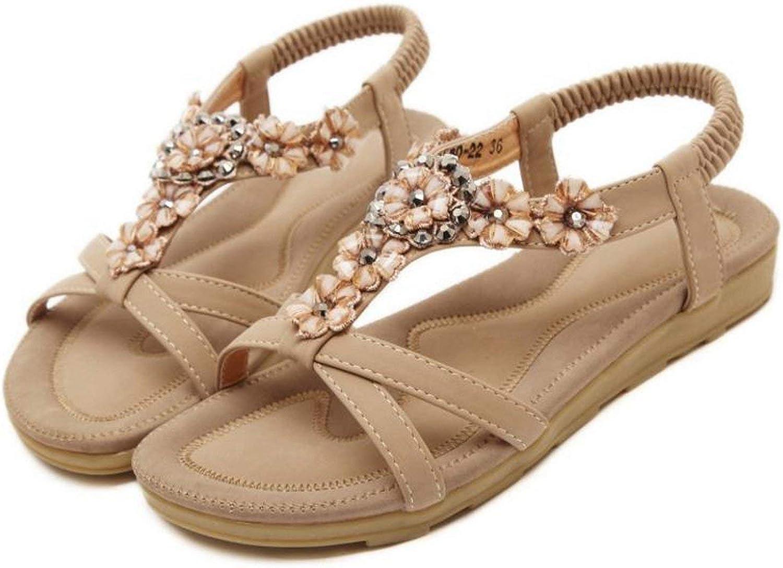 Houfeoans Fashion Women Summer Sandals Woman shoes Skid Flower Elegant Sandals Sweet Bohemia Footwear shoes