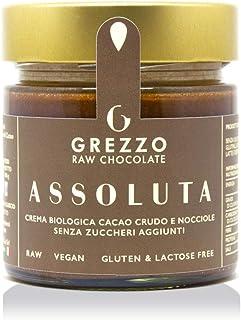 ASSOLUTA - Crema spalmabile cioccolato crudo e nocciole senza zucchero, bontà garantita da Grezzo Raw Chocolate