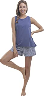 jijamas Incredibly Soft Pima Cotton Women's Pajamas Set - Shorts & Tank