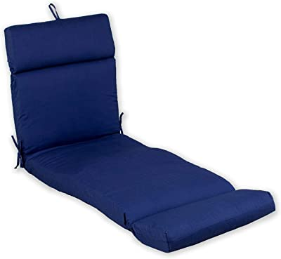 Amazon Com Bullnose Chaise Outdoor Cushion 4 Hx23 Wx80 L Macaw