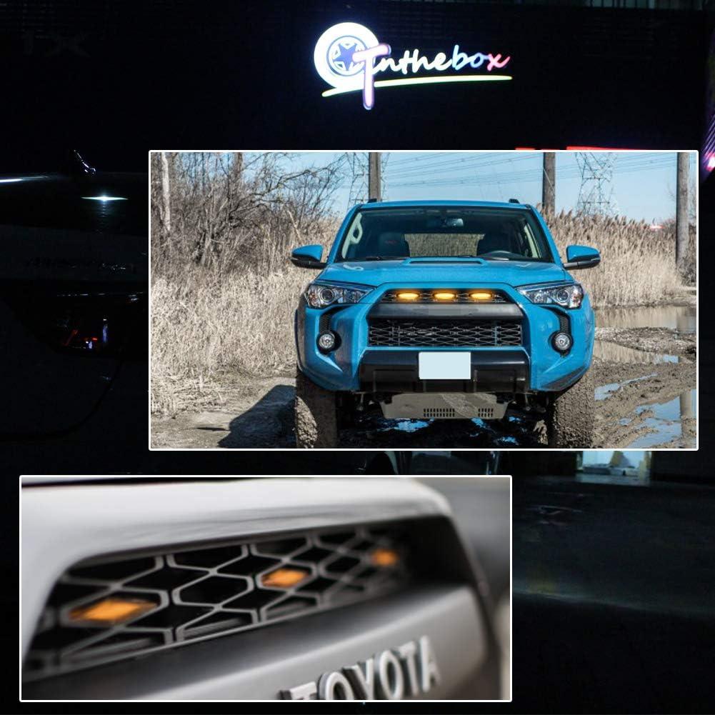 GTINTHEBOX 3 Pcs Grille Led Amber Light for 2014-2021 Toyota 4Runner TRD Pro Grille SR5 TRD off-road Limited TRO Pro,Amber Lens