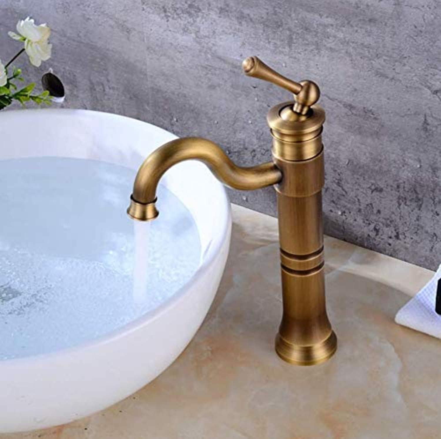 Bathroom Sink Tap Single Handle Control Faucet Bathroom Basin Mixer Tap Antique Sink Basin Tap Bathroom Sink Faucets