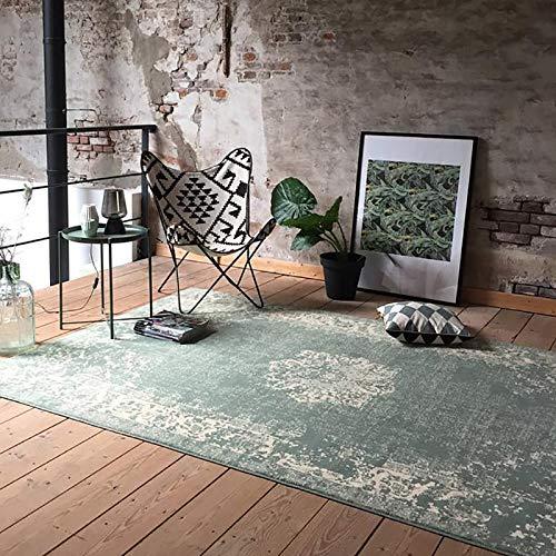 Vintage Teppich - Wonder Grün, hellgrün, Orientteppich, super weich, pflegeleicht, hoher qualität, rechteckig, synthetisch, orientalisch, antiallergisch (70x140)
