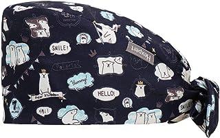 قبعة عصرية يمكن ربطها من الخلف قماشها مطبع للرجال والنساء من البسة زد تي ال
