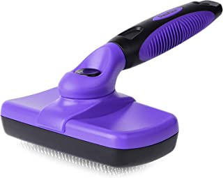 Self Cleaning Slicker Brush, Dog Brush/Cat Brush for Shedding and Grooming Loose Undercoat, Mats and Tangled Hair - for Sm...