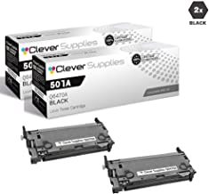 CS Compatible Toner Cartridge Replacement for HP 3600 Q6470A Black HP 501A Color Laserjet 3600 3600N 3600DN 3800 3800N 3800DN 3800DTN CP3505 CP3505N CP3505DN CP3505X 2 Set