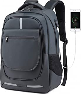 Travel Backpack, Business Laptop Backpack, with USB Charging Port, Water Resistant, for Work College School Outdoor