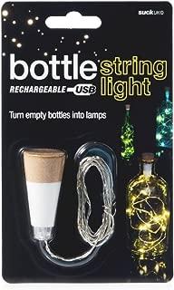 Suck UK Official Rechargeable USB LED String Bottle Light Reusable Table/Home Decoration, White