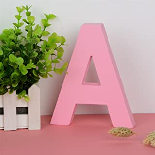 Decorative Wood Letters A Hanging Wall 26 Letters Wooden Alphabet Wall Letter for Children Baby Name Girls Bedroom Wedding Brithday Party Home Decor-Letters (A)