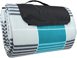 TOPBATHY 150cmx200cm Moistureproof Picnic Blanket Portable Foldable Blanket Tote for Outdoor Activities Camping