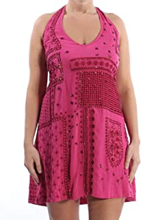 Intimately Free People Womens Country Nights Embellished Halter Dress Pink L