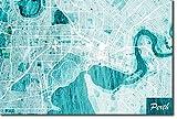 TPCK Perth, Australia Ursprüngliches Karten-Design Blue