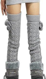 ZUMUii, Butterme Womens Extra Grueso Largo De Cable Knit Crochet Knee Calentadores De Pierna Alta con El Otoño De Invierno Knit Calcetines De Rodilla