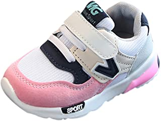 Hot Sale!Summer Sandals 2018,Todaies Toddler Kids Bowknot Children Baby Heart Shoes LED Light Up Luminous Sneakers 2018 (US:5.5, Pink)