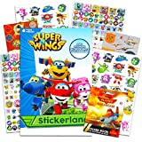 Super Wings Stickers Party Favors Pack - Over 295 Transforming Planes Stickers with 100+ Disney Planes Stickers (Super Wings Party Supplies)