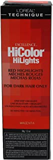 Loreal Excellence Hicolor Hilights Magenta 1.2 Ounce (35ml) (3 Pack)