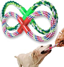 YIDADA Dog Rope Toy Aggressive Chewers - Indestructible Dog Chew Toys 8-Shaped Interactive Dog Toys Dental Care Teeth Cleaning Tools Training Toys for Small Puppies Large Dogs 2-Packs