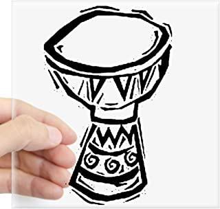 """CafePress Djembe Drum Woodcut Sticker Square Bumper Sticker Car Decal, 3""""x3"""" (Small) or 5""""x5"""" (Large)"""