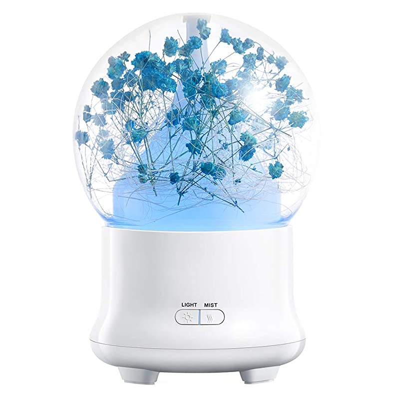 妊娠した特別な利用可能クリエイティブアロマテラピーマシン、超音波アロマテラピー香り高いオイル気化器加湿器、オートオフセーフティスイッチ7 ledライトカラー,3